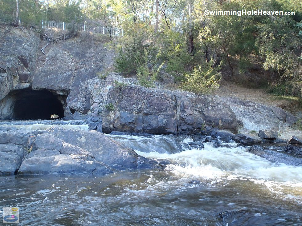 Ferocious water at Pound Bend Tunnel, Warrandyte
