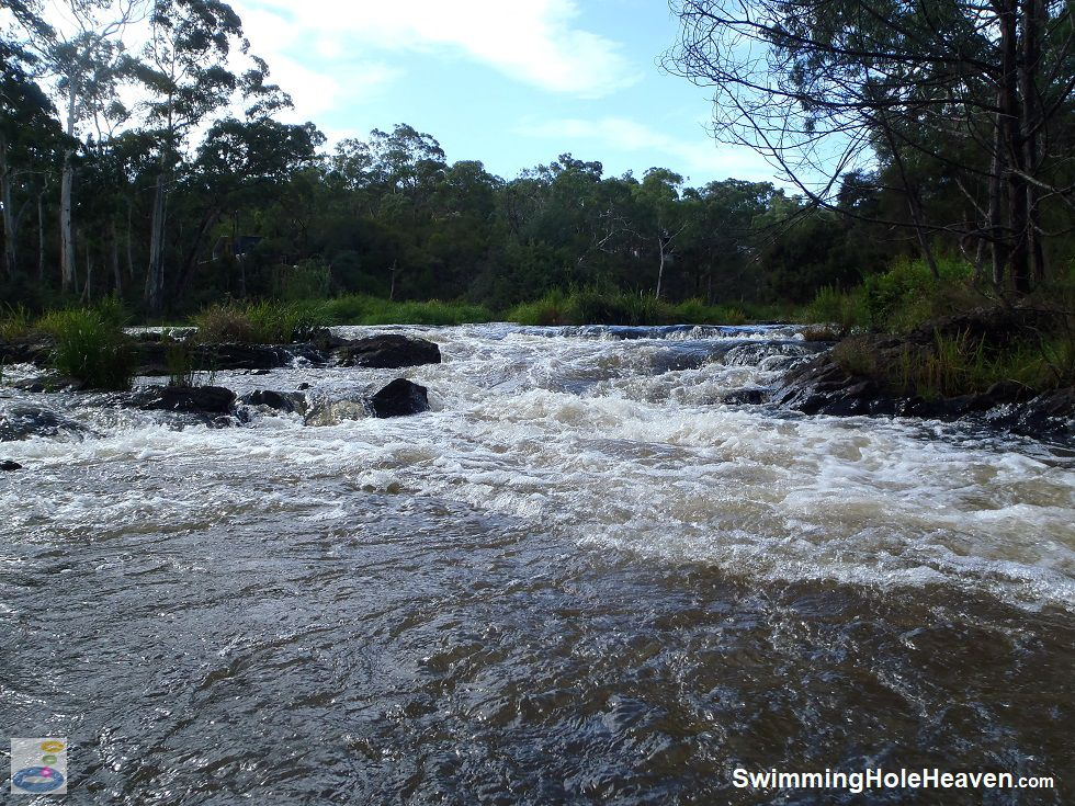 The largest rapids on the Yarra River at Bend of Islands