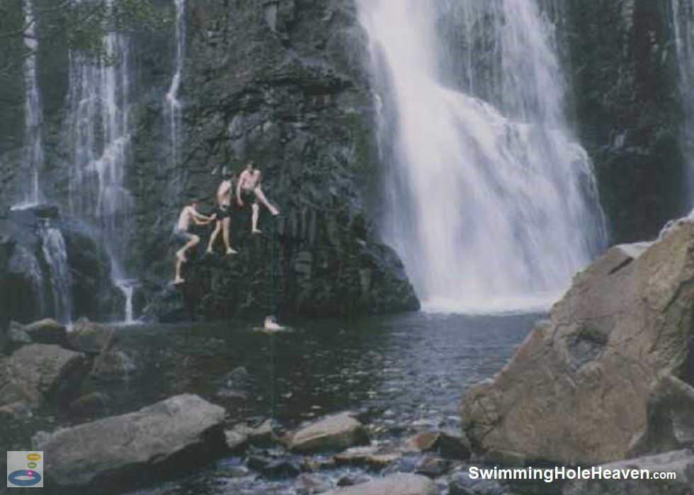 Swimming in the pool at MacKenzie Falls in the Grampians