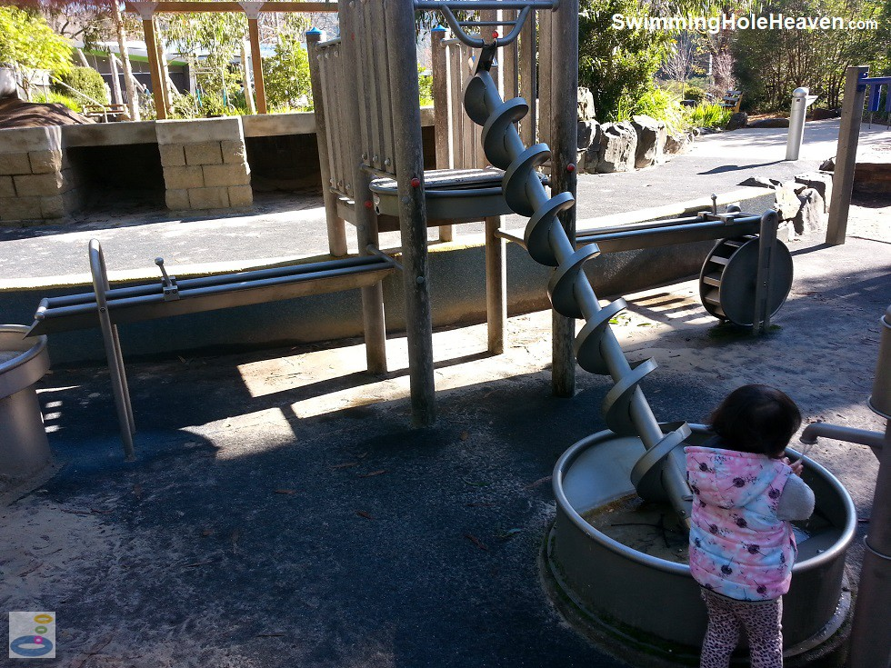 The water pump and hand auger at Gallipoli Park, Marysville