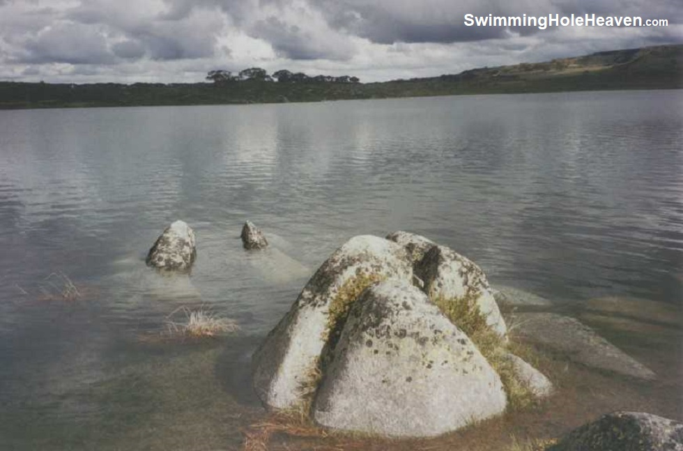 Swimming at Rocky Valley Reservoir, Falls Creek