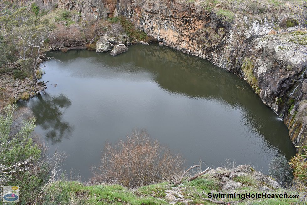 Swimming at Turpins Falls on the Campaspe River